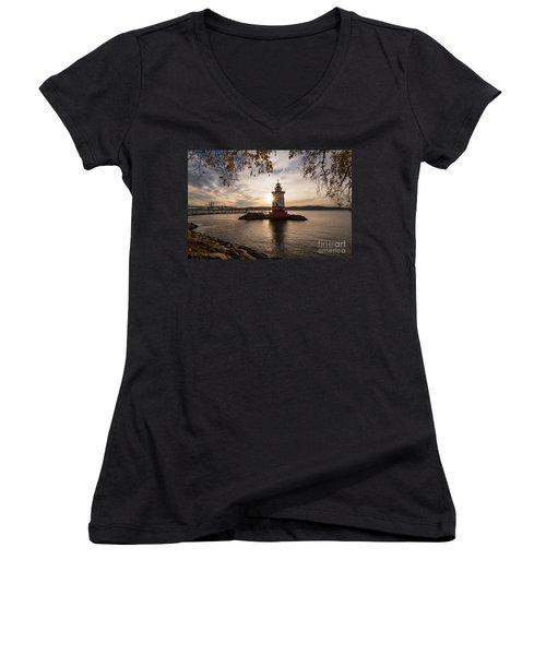 Tarrytown Lighthouse Women's V-Neck T-Shirt