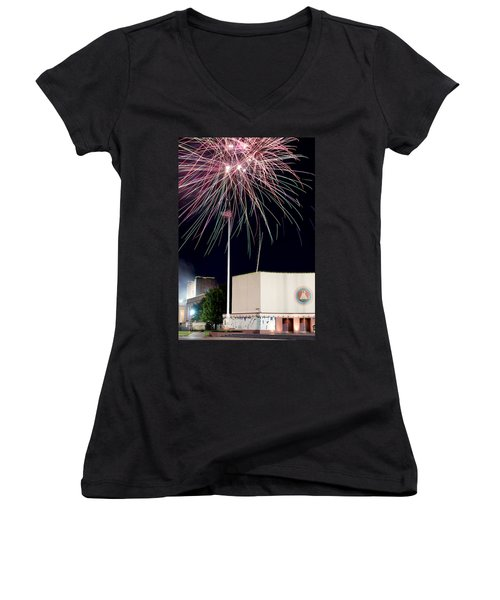 Taste Of Dallas 2015 Fireworks Women's V-Neck (Athletic Fit)