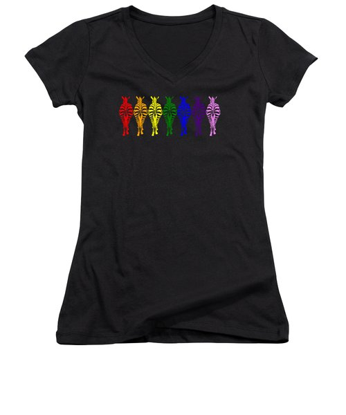 Technicolor Dream Women's V-Neck (Athletic Fit)