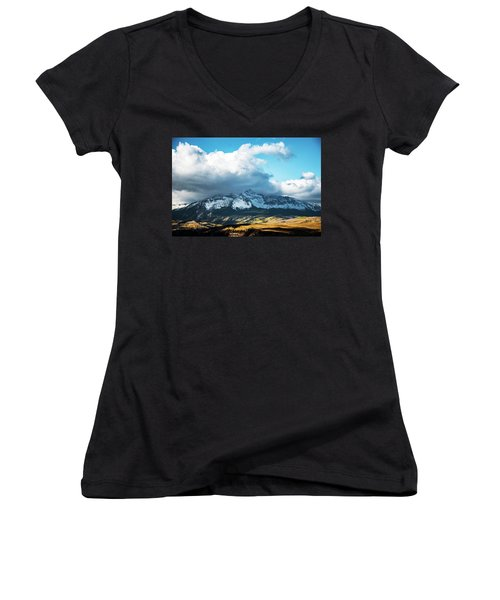 Telluride Colorado In The Fall Women's V-Neck (Athletic Fit)