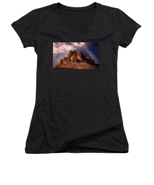 Temple Of Red Stone Women's V-Neck