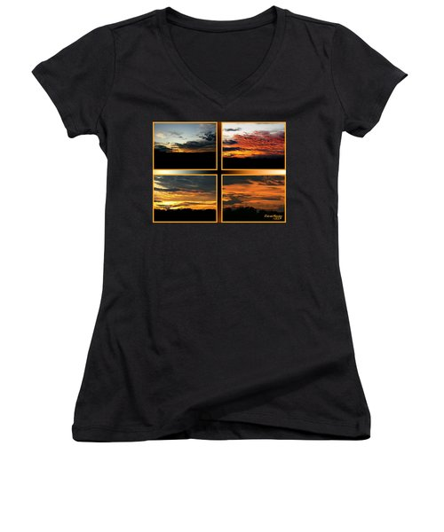 Tennessee Sunset Women's V-Neck T-Shirt (Junior Cut) by EricaMaxine  Price