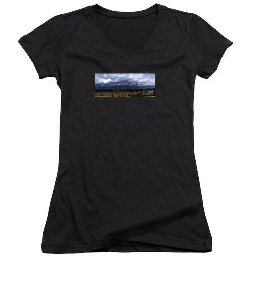 Teton Range # 1 Women's V-Neck T-Shirt