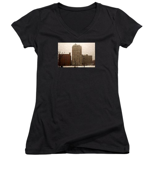 Teweles Teweles Women's V-Neck T-Shirt (Junior Cut) by David Blank
