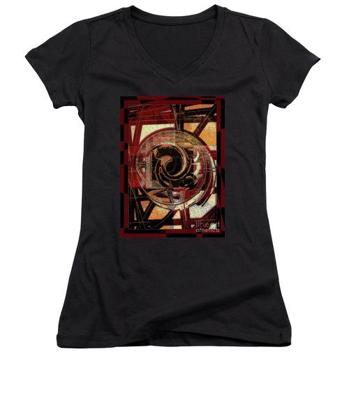 Textured Abstract Women's V-Neck T-Shirt