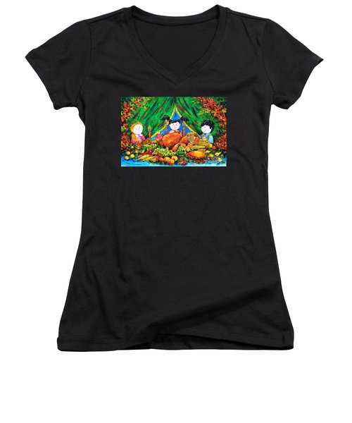 Thanksgiving Day Women's V-Neck T-Shirt