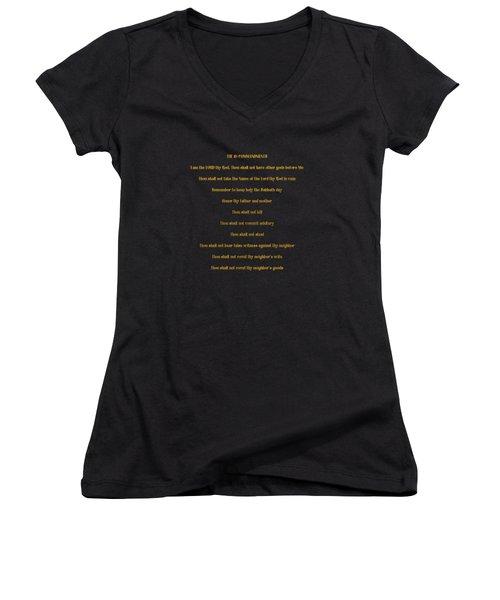 The 10 Commandments Women's V-Neck