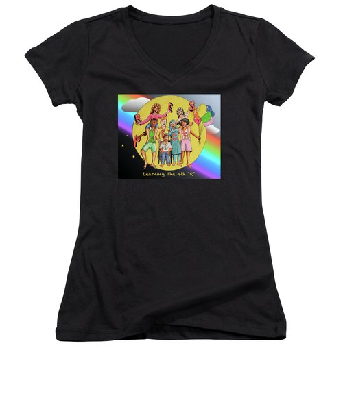 The 4th R Women's V-Neck T-Shirt