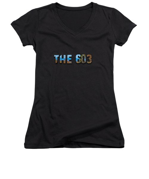 The 603 Women's V-Neck T-Shirt (Junior Cut) by Mim White