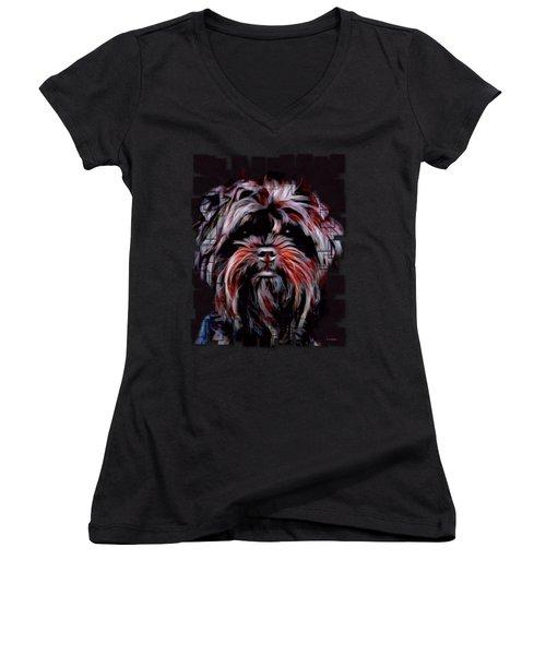 The Affenpinscher Women's V-Neck T-Shirt