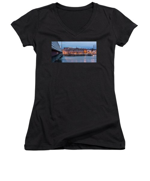 Women's V-Neck T-Shirt (Junior Cut) featuring the photograph The Allure Of Old by Everet Regal