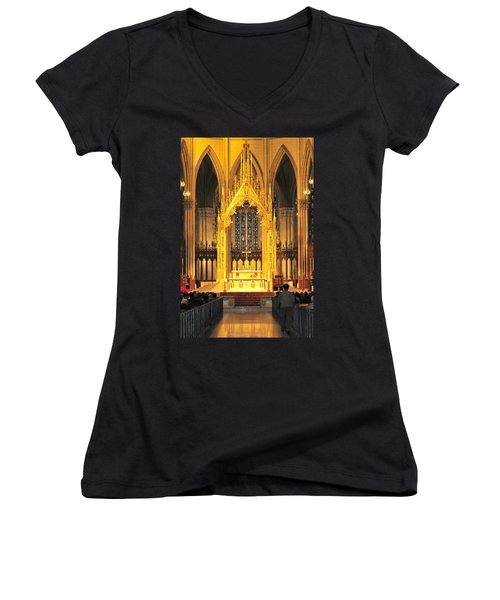 Women's V-Neck T-Shirt (Junior Cut) featuring the photograph The Alter by Diana Angstadt