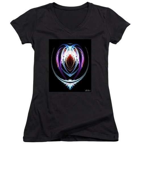 The Angel Of Art Women's V-Neck (Athletic Fit)