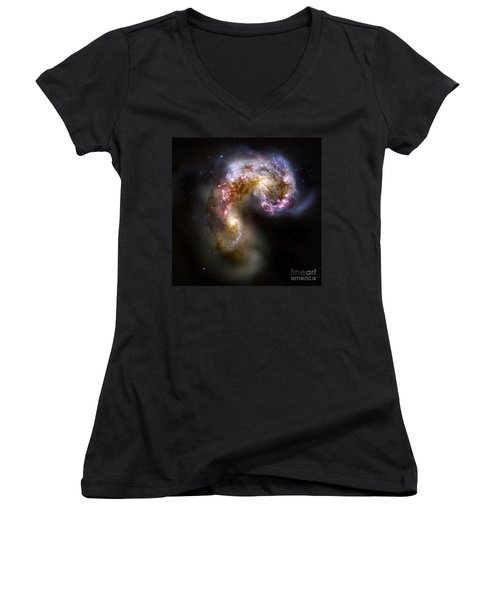 The Antennae Galaxies - Ngc 4038-4039 Women's V-Neck (Athletic Fit)
