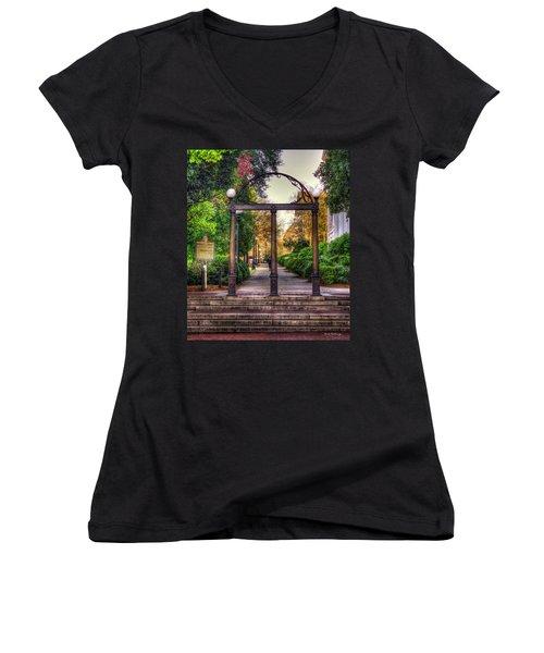The Arch University Of Georgia Arch Art Women's V-Neck