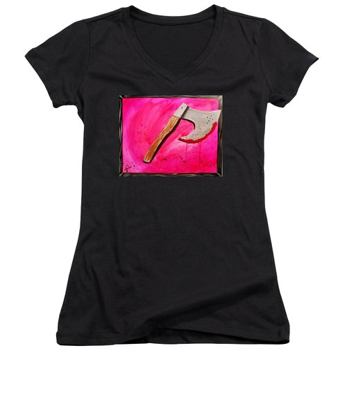 The Axe Of God  Women's V-Neck (Athletic Fit)