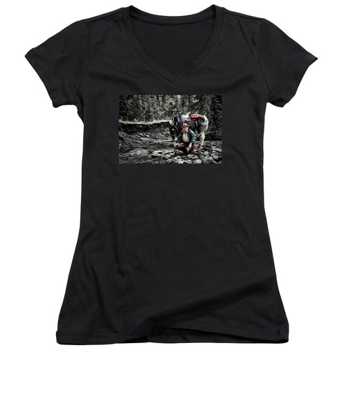 The Back Country Guardian Women's V-Neck (Athletic Fit)