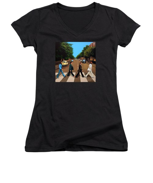 The Beatles Abbey Road Women's V-Neck (Athletic Fit)