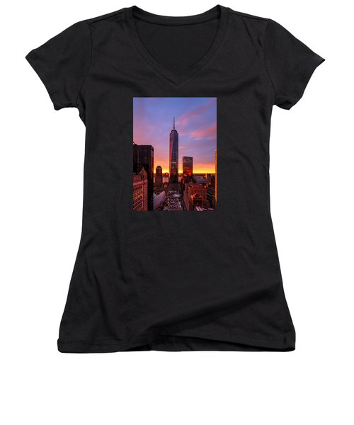 Women's V-Neck T-Shirt (Junior Cut) featuring the photograph The Beauty Of God by Anthony Fields