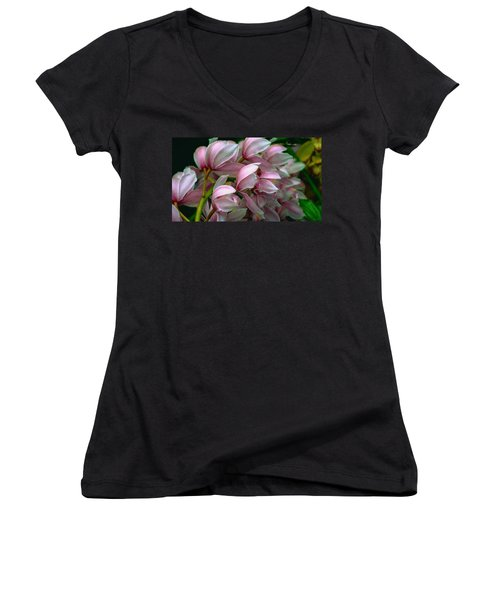 The Beauty Of Orchids Women's V-Neck