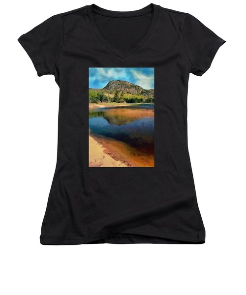 The Beehive Women's V-Neck T-Shirt (Junior Cut) by Jeff Kolker