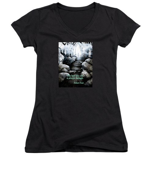 The Best Way Out Women's V-Neck