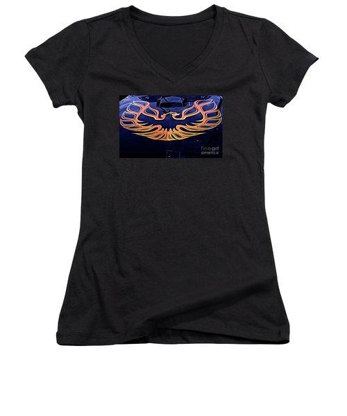 The Bird - Pontiac Trans Am Women's V-Neck T-Shirt