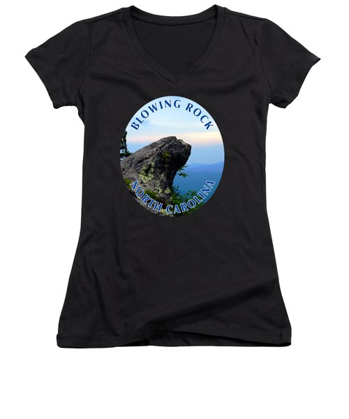 The Blowing Rock T-shirt Women's V-Neck (Athletic Fit)