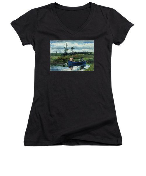The Blue Boat Women's V-Neck (Athletic Fit)