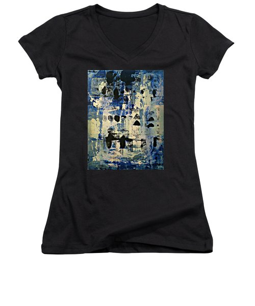 The Blues Abstract Women's V-Neck