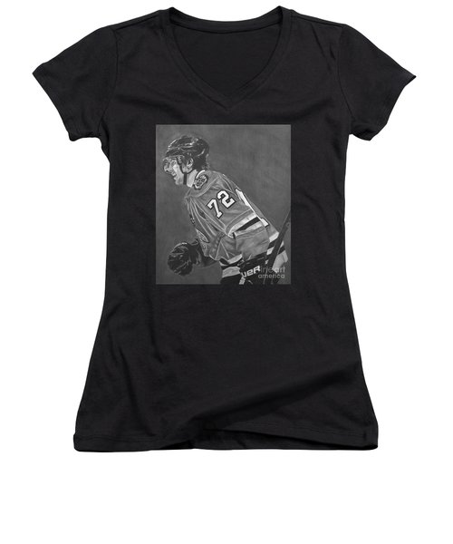 The Breadman Women's V-Neck T-Shirt (Junior Cut) by Melissa Goodrich