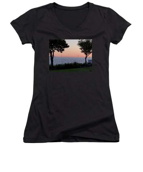 The Bridge From The Island Women's V-Neck