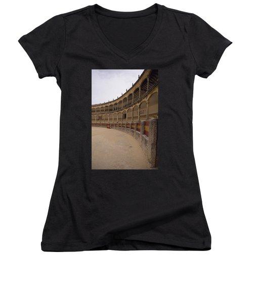 The Bullring Women's V-Neck T-Shirt