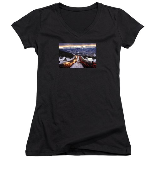 The Call Of The Mountains Women's V-Neck