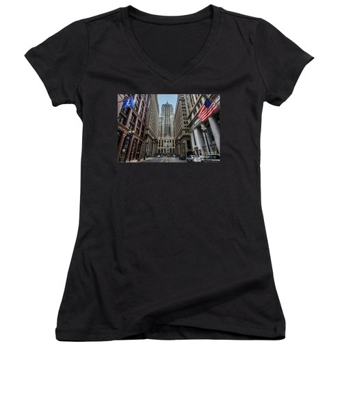The Canyon In The Financial District Women's V-Neck