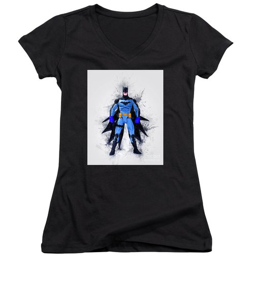 The Caped Crusader Women's V-Neck