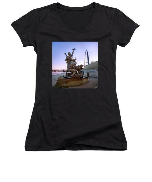The Captain Returns With Arch Women's V-Neck