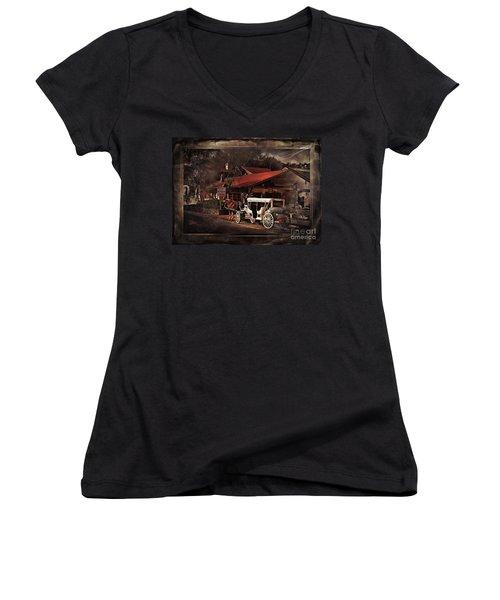 The Carriage Women's V-Neck T-Shirt (Junior Cut) by Bob Pardue