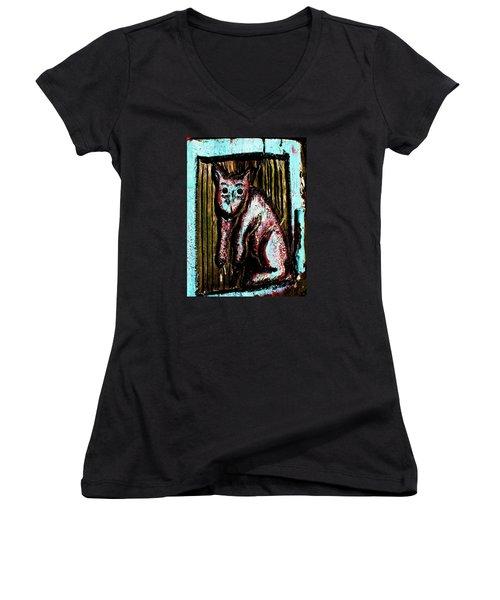 The Cat Women's V-Neck T-Shirt
