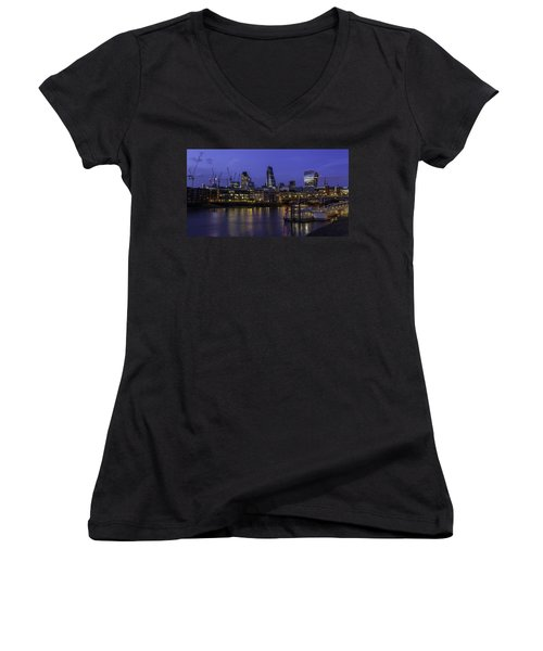 The City From The Southbank Women's V-Neck T-Shirt