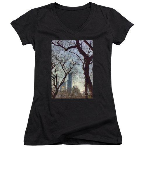 The City Through The Trees Women's V-Neck (Athletic Fit)