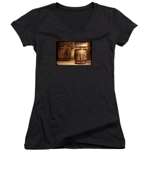 The Coopersmith Shop Women's V-Neck T-Shirt (Junior Cut) by American West Legend By Olivier Le Queinec