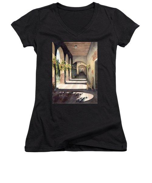 The Corridor 2 Women's V-Neck T-Shirt (Junior Cut) by Sam Sidders