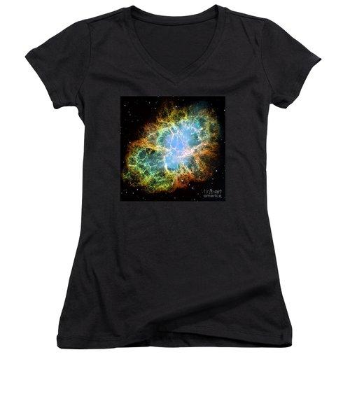 The Crab Nebula Women's V-Neck T-Shirt