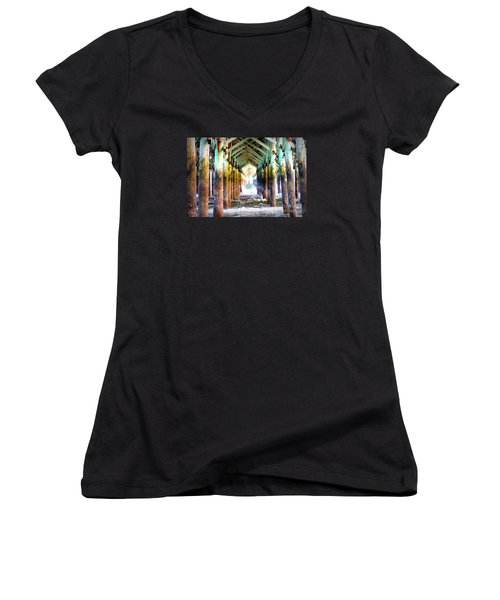The Cross Before Us Women's V-Neck T-Shirt