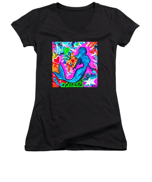 The Dancing Mermaid Women's V-Neck (Athletic Fit)