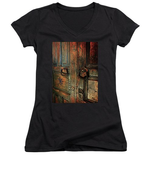 The Door Of Many Colors Women's V-Neck T-Shirt