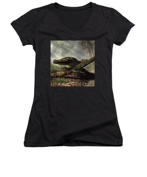 The Dragon Of Brno Women's V-Neck (Athletic Fit)