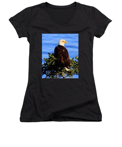 The Eagle Has Landed 2 Women's V-Neck T-Shirt
