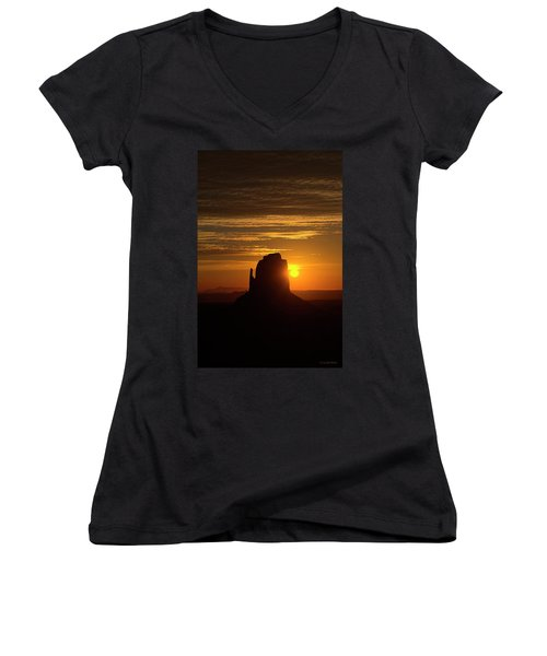 The Earth Awakes Women's V-Neck (Athletic Fit)